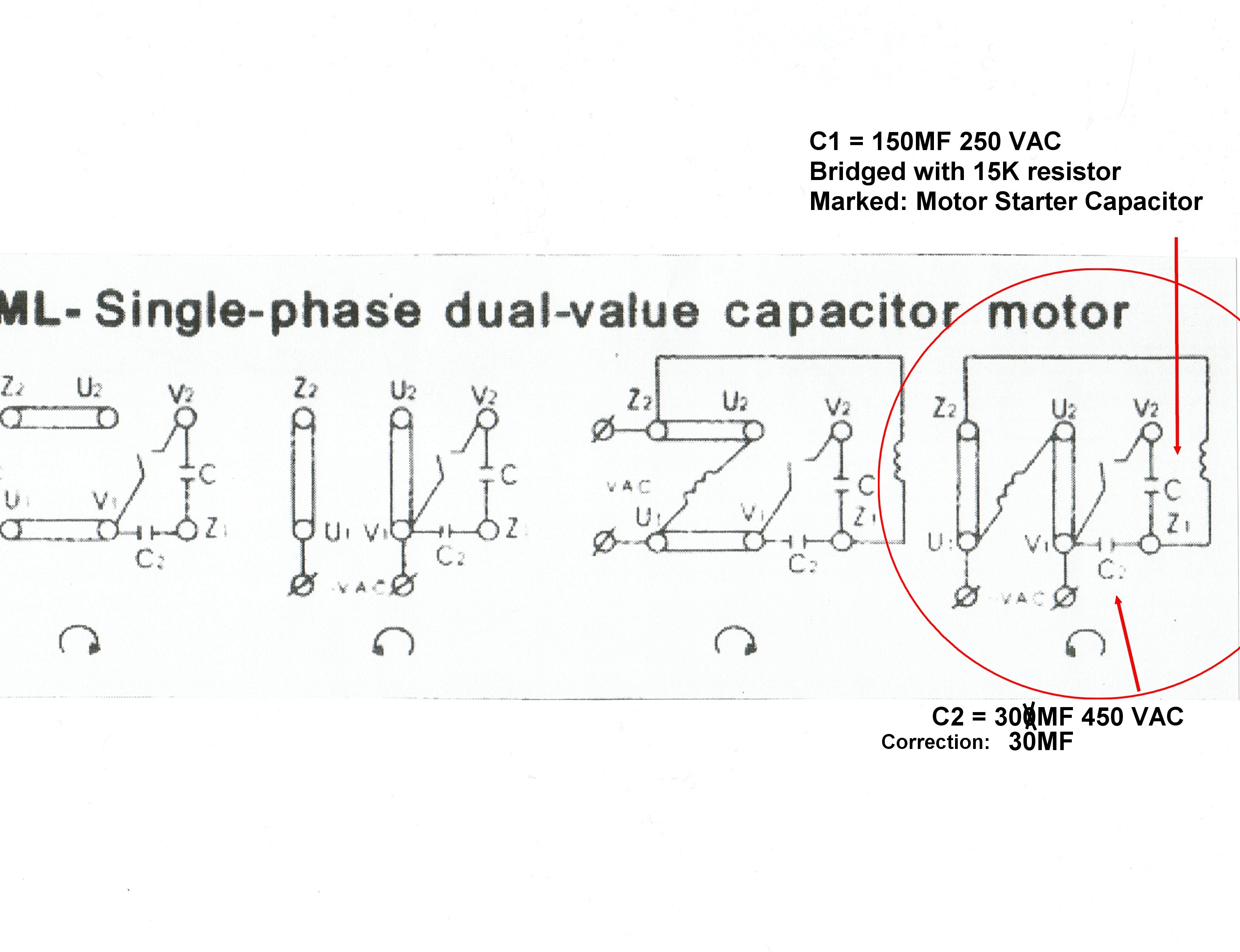 Wiring Diagram Single Phase Induction Motor : Single phase induction motor schematic get free image